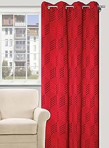 140x245 rot Vorhang Vorhänge Ösenschal Fensterdekoration Blickdicht