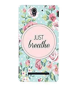 Just Breathe Back Case Cover for Sony Xperia C3 Dual D2502::Sony Xperia C3 D2533