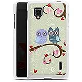 LG Optimus G Hülle Silikon Case Schutz Cover Eulen Muster Dating Owls
