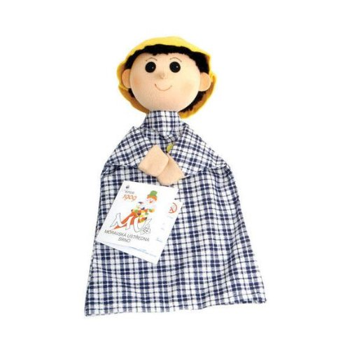 ABA aba71113Junge mit lang Nase Kleidung kariert Handpuppe, (Chicken Nase)