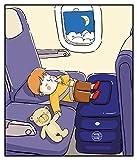 WapWap Reisebett für Kinder, aufblasbares Kinder-Reise- Beinstützkissen für Flugreisen, mit Flachvent zum Aufblasen, Kinder-Bett Box für lange Flüge, aus qualitativ hochwertigem und sicherem Material