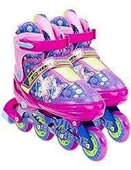 Kinder Inlineskates TriGo pink mit LED Leuchtrollen Gr 26-29 verstellbar Inlineskating