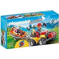 Playmobil-9130 Quad de Rescate de Montaña (9130)