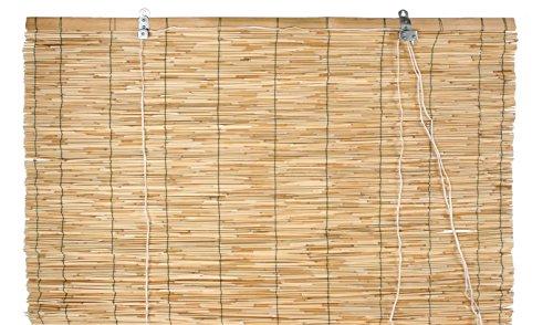 Verdemax 67081,2x 2,6m Raw bambú Roller-Blind Cierre por Hilo de Nailon con Polea