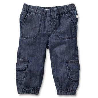 Noppies - Pantalon - Bébé Garçon - Bleu (Stone Wash ) - FR : 2 mois (Taille fabricant : 56)