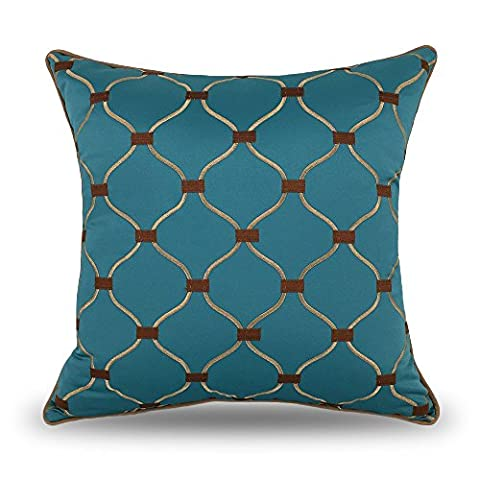 Coolsummer Embroidered Geometry Cushion Covers European style Decorative Throw Pillow