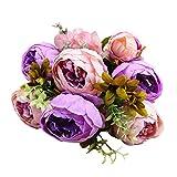 ODJOY-FAN 2 strauß Hochgradige Künstliche Blume Gefälschte Blume Kunstblumen Pfingstrose Blumen zum Hochzeit Deko Wohnaccessoires (K,1 PC)