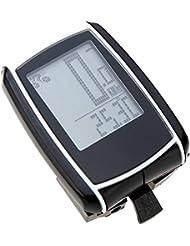 Hiputi (TM) sans fil rétroéclairage LCD ordinateur de vélo Compteur de vitesse Odomètre de cyclisme étanche multifonction ordinateur de vélo