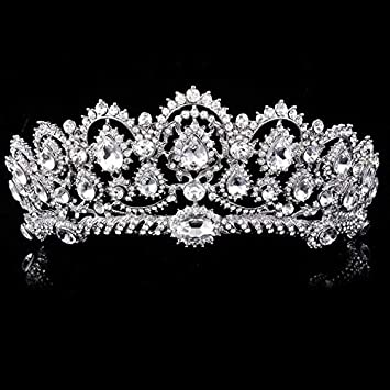 Asipen Wedding Hair Accessories Queen For Bride Rhinestone Korean