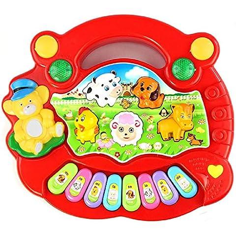 Toraway Populares del bebé animal del campo de la música del piano Útil juguete educativo de Inteligencia del Desarrollo