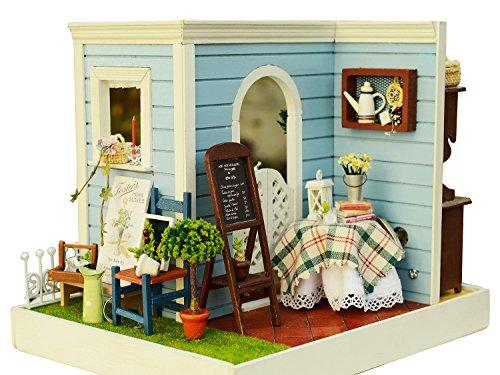 Cuteroom Holz-Puppenhaus, Miniatur-Set, Raumecke & Möbel