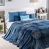 Sancarlos Espiral Manta, Azul, Cama DE 90 cm