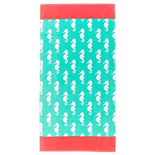 Boutique-Strandtuch/Poolhandtuch, Sommerkollektion 60x30 inch Mint Seahorse Boutique-mint