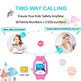 Smart-Watch-Kids-Witmoving-Touch-Screen-Childrens-Smart-Watch-GPS-Tracker-Watch-Phone-Sim-Anti-lost-SOS-Wrist-Watch-Parent-Control-By-IPhone-IOS-Android-Smartphone-for-Boys-Girls-Pink