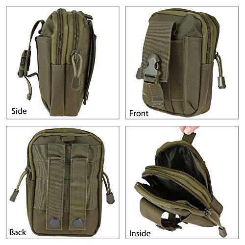 Tactical Tasche MOLLE Oxford Waist Gürtel Taschen Geldbörse Tasche Outdoor-Sport Pack EDC Camping Wandern Tasche armee-grün