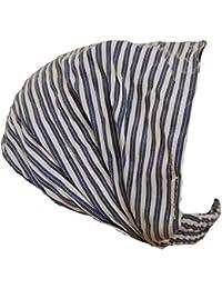 Pezzo D'oro - Bande de cheveux souple et élastique, blanc-bleu