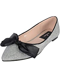 Smitten Formals & Lace-Up Flats For Women ( Silver )