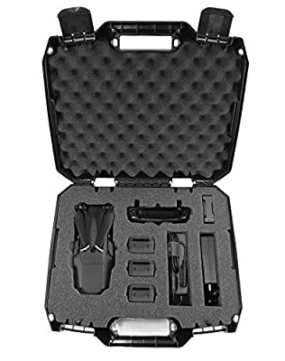 CASEMATIX DRONESAFE Rugged Mini Drone Carry Case Organizer With Customizable Foam - Protect DJI Mavic Pro Foldable Drone Combo and Accessories Such as Remote Control , Extra Batteries , Propellers by CASEMATIX