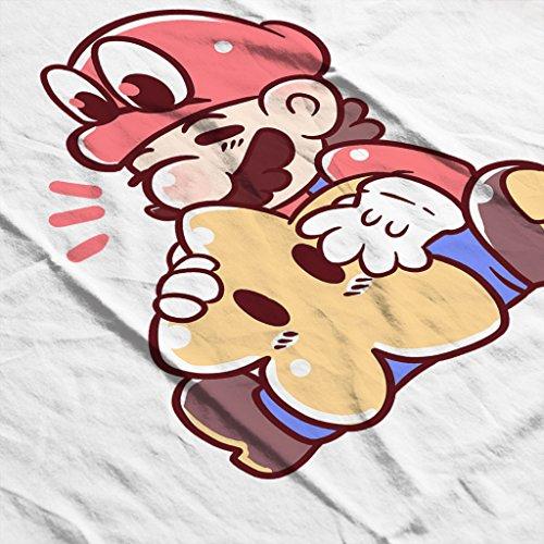 Cute Mario And Cappy Super Mario Odyssey Women's Hooded Sweatshirt white