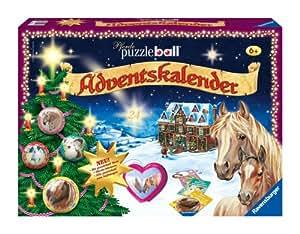 Ravensburger 11418 - Puzzleball Adventskalender Pferde