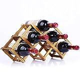 Zhiyuanan Kreativer Faltender Weinregal Massivholz Kiefernweinregale Umweltfreundliche Mode Flaschenregal Braun 44cm*12cm*23cm