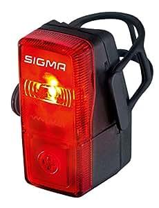Sigma Sport LED Batterie Fahrradbeleuchtung CUBIC, 400 m Sichtbarkeit, batteriebetriebenes Rücklicht, StVZO zugelassen, Schwarz