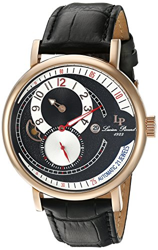 Piccard Lp 15157 Men's Leather Lucien Rg 01 Analogue Watch With Automatic Strap WeE2I9YDH