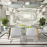 murando - Fototapete 500x280 cm - Vlies Tapete -Moderne Wanddeko - Design Tapete - Abstrakt Tunnel Holz 3D geometrisch a-B-0035-a-c