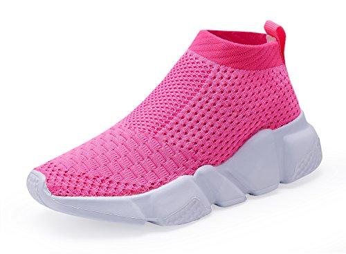 Piup Laufschuhe für Kleinkinder, atmungsaktiv, für Jungen und Mädchen, Pink - Dunkles Pink - Größe: 37 EU (Mädchen, Tennis-schuhe Größe 4 Für 2 1)