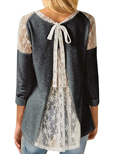 Lueyifs - Sweat-shirt - Manches Longues - Femme Gris