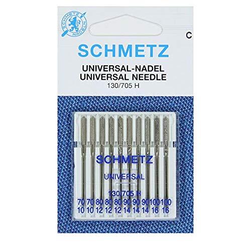 Schmetz - Aghi assortiti per macchina da cucire, misura 70-100, confezione da 10