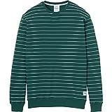 Cleptomanicx Herren Sweatshirt Interstripe, Größe:M, Farben:Bottle Green