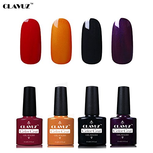 Set de Vernis à Ongles Semi-Permanent UV LED Soakoff 4pcs Kit Manucure 10ml de Clavuz-KIT 021