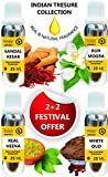 #10: 2+2 FESTIVAL OFFER PACK INDIAN TRESURE COLLECTION OF SANDAL-KESAR ATTAR, RUH MOGRA ATTAR, REAL HEENA ATTAR AND WHITE OUD ATTAR- PURCHASE 50ML AND 50ML FREE BEST ATTAR FOR MEN AND BEST ATTAR PERFUME, ATTAR FOR MEN LONG LASTING, ATTAR PERFUME ARABIAN, BEST PARAG FRAGRANCES ATTAR