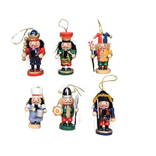 Lot 6pcs Casse-Noisette Ancien Bois écossais Figurine Cadeaux Nußknacker