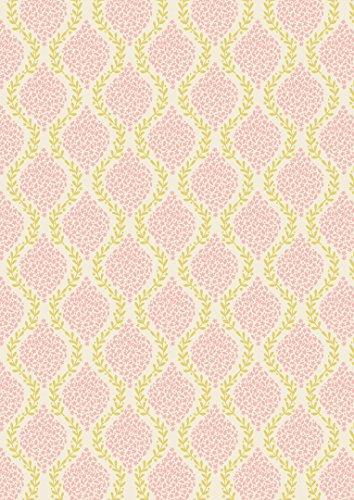 Ghirlanda di fiori in tessuto LEW73 Rosa, Primavera lepre & by Lewis Irene, 100% cotone, colore: rosa, lunghezza 0,5 m, colore: giallo su sfondo floreale, in tessuto, colore: crema - Primavera Garland