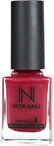 Nova Washable Nail Polish - 81 Red Carpet, 0.37 oz.