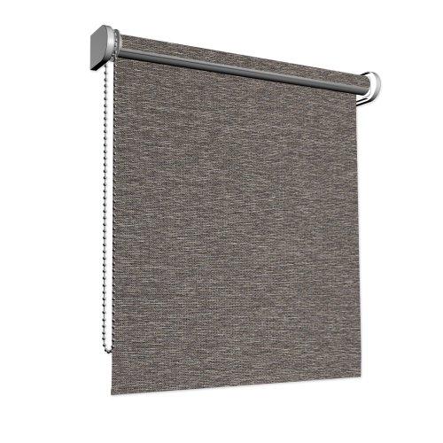 VICTORIA M Store translucide - Tissu du store transparenteen lin ou structuré - Dimension: 150 x 175 cm couleur: marron chiné