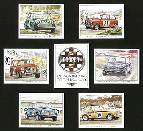 Racing &gagnant Mini Coopers 1960s-Hopkirk Paddy, Rhodes, John John Handley, Alec Poole, Steve Neal-cartes à collectionner