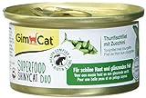 GimCat Katzennassfutter Superfood ShinyCat Duo Thunfischfilet mit Zucchini – Hochwertiges Katzenfutter ohne Zuckerzusatz – 24 Dosen (24 x 70g)