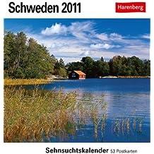 Schweden 2011: Sehnsuchts-Kalender. 53 heraustrennbare Farbpostkarten