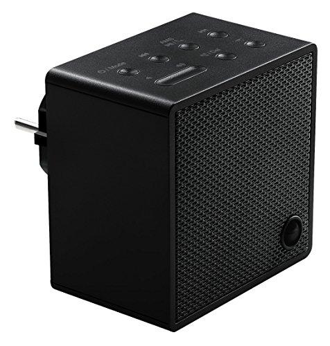 MEDION LIFE P65700 Steckdosenradio mit Bluetooth- Funktion, Bluetooth 4.2, NFC, PLL UKW Radio, integriertes Nachtlicht, schwarz