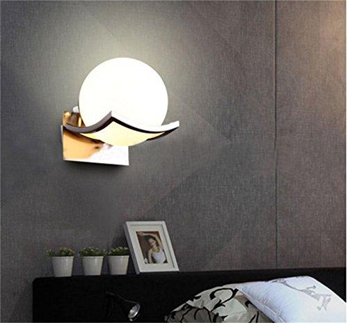 Glas Wandleuchte Globen (Mond Globus Wand LED Lampen Glas Weiß Ball Wandleuchte für Wohnkultur 15 * 18 * 20 cm)