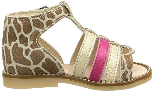 Little Mary Holiday, Chaussures Premiers pas bébé fille Beige (Giraf Beig/Wash Pla)