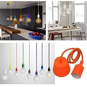 Princeway couleur silicone luminaire suspension style europ en moderne ikea lampe pendante for Plafonnier pour salle a manger pour deco cuisine