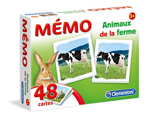 Clementoni- Memo Animaux de la Ferme-Jeu educatif, 52292