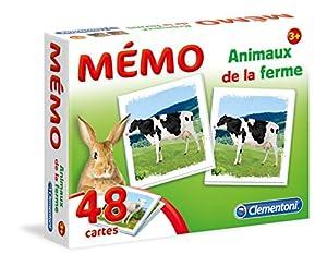 Clementoni-Memo de Animales de Granja-Juego Educativo, 52292