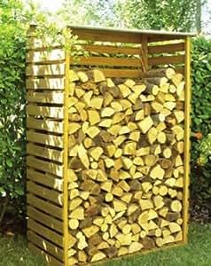 Legnaia 116x64x173h cm in legno porta legna per giardino for Cassa porta legna