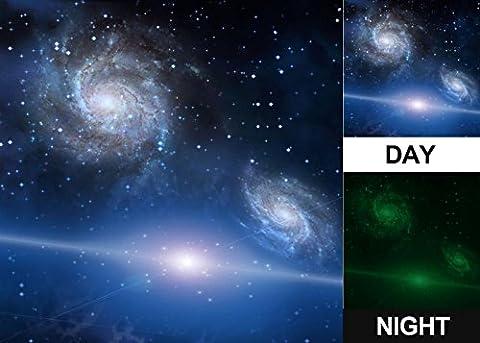 Photonic Décoration murale, brillent dans le noir, toile murale, Cosmos