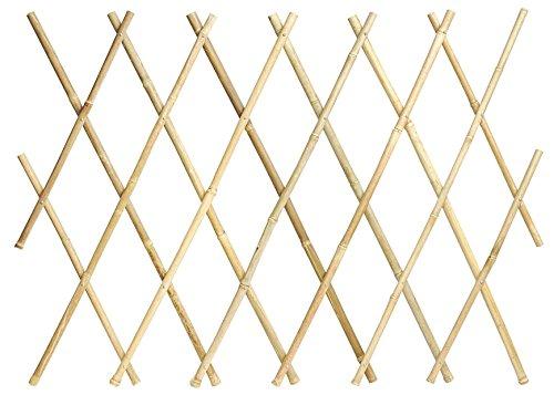 Verdemax 5272 traliccio estensibile in bamboo naturale mt 1,8x1,2